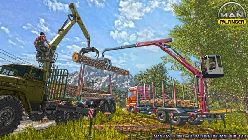 MAN TGS 33.480 FORESTRY TRUCK & TRAILER V 0.9.1