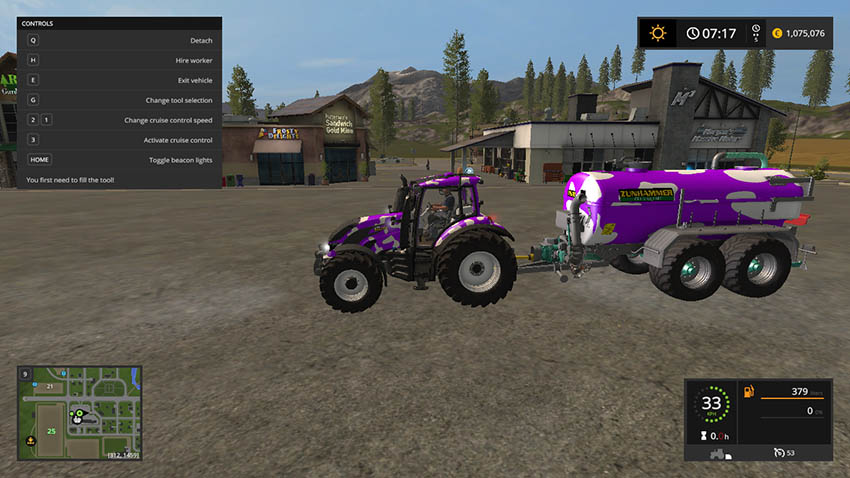 Valtra T Series Cow GT Milka Edition v 1.0