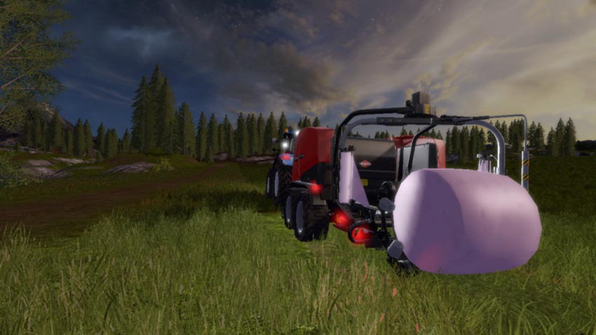 Automatic unload for bale wrapper V 1.0