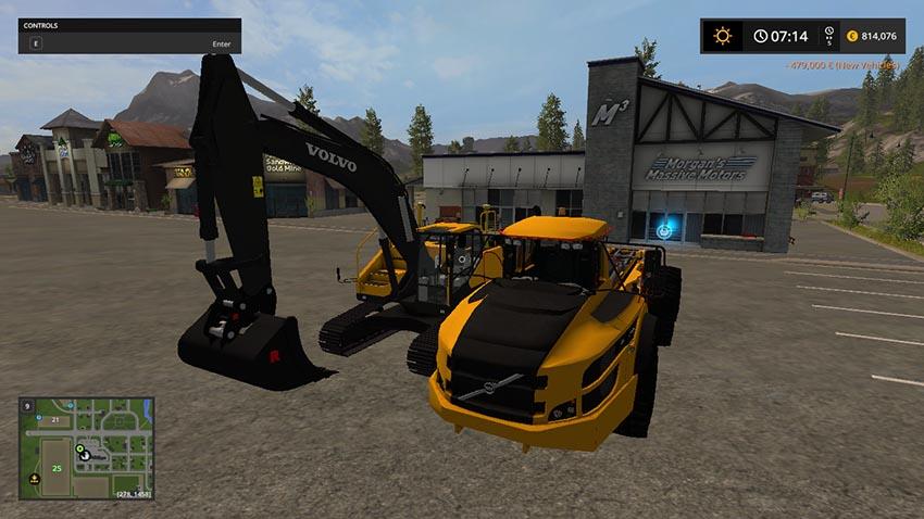 Volvo EC300E Excavator And A40 Truck v 2.0