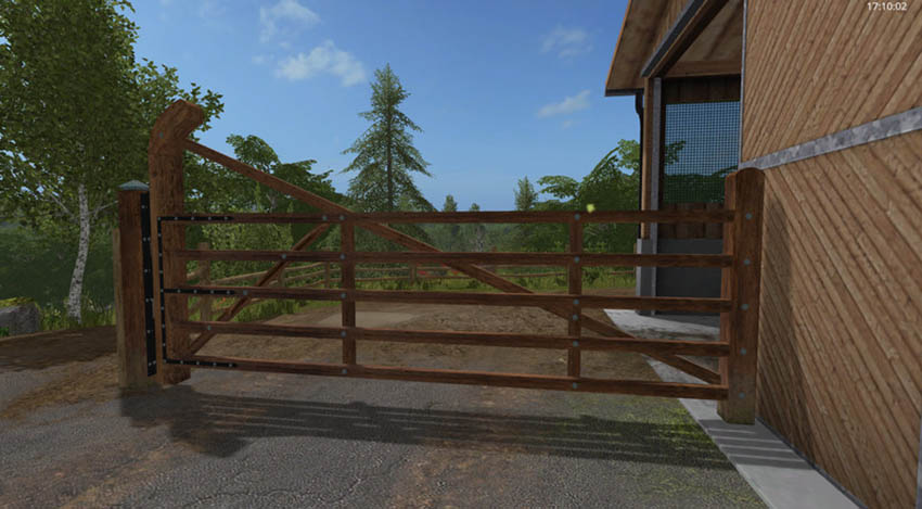 Animated paddock fence with gate V 1.0