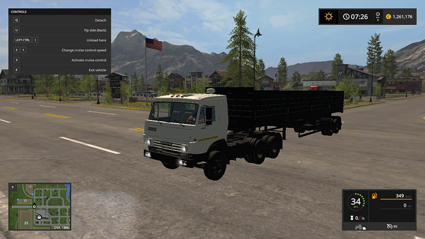 Kamaz 5410 and Nefaz 93344 V 1.0