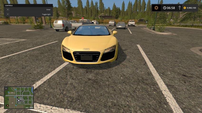 Audi R8 spyder yellow V 1.0