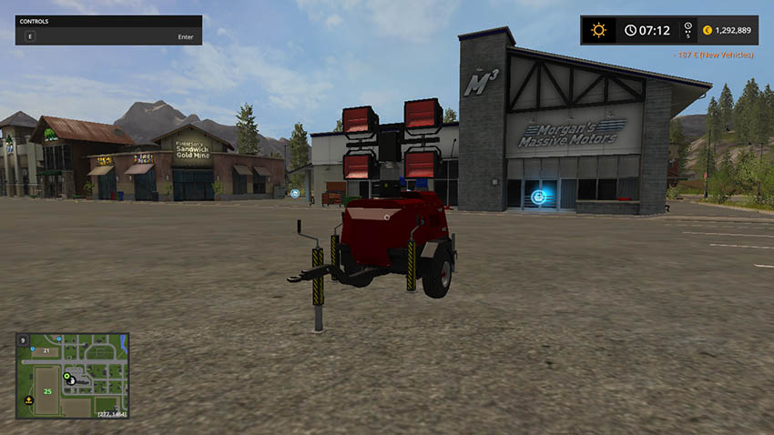 Lizard floodlight trailer firefighter V 1.0