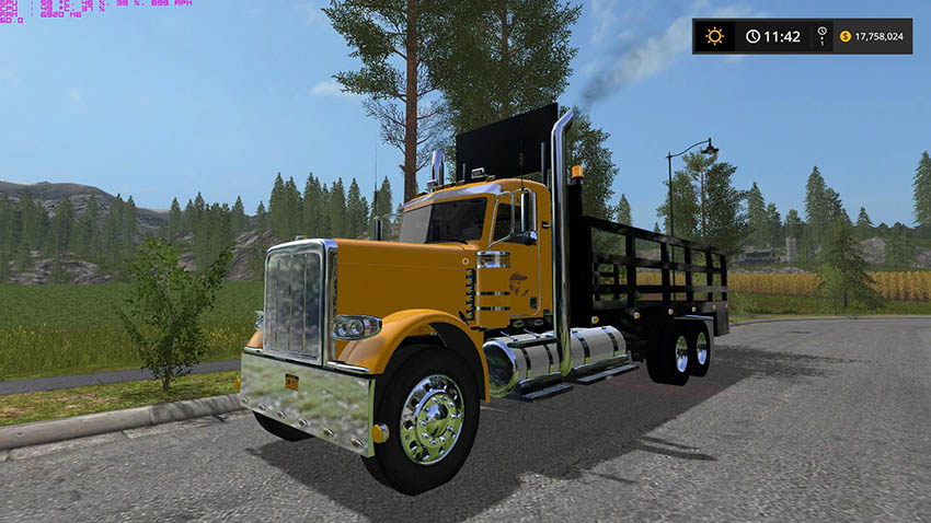Peterbilt NYS DOT 388 Stake Bed v 1.0