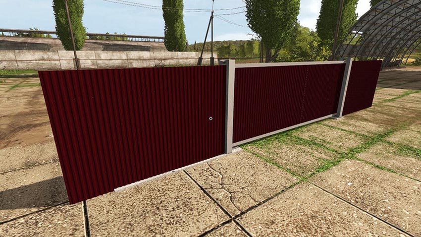 Pack fences and gates V 2.0 3D model