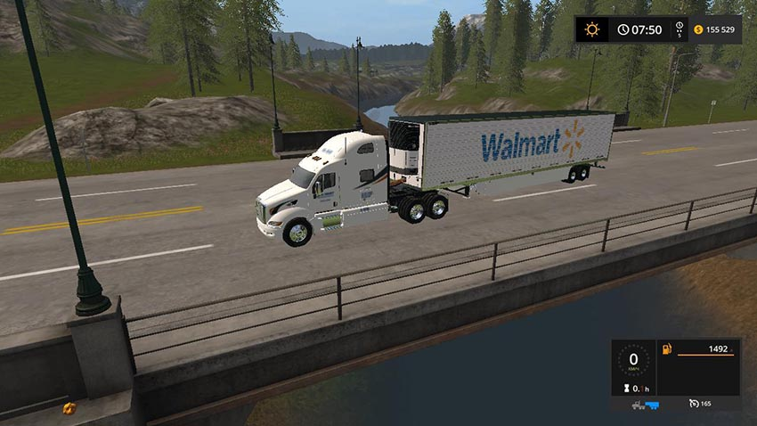 Walmart Peterbilt and Trailer v 1.0