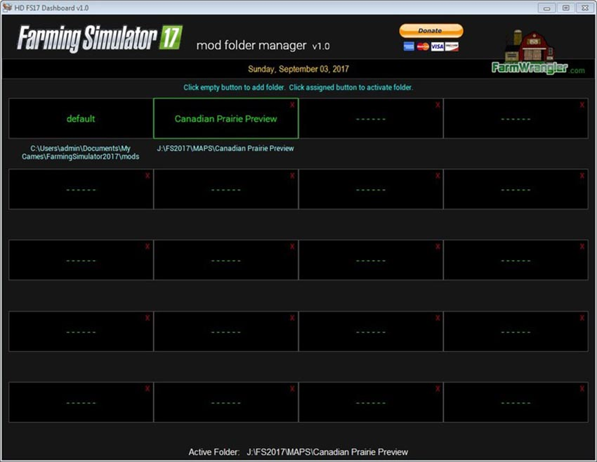 Free FS17 Mod Folder Manager Software v 1.0