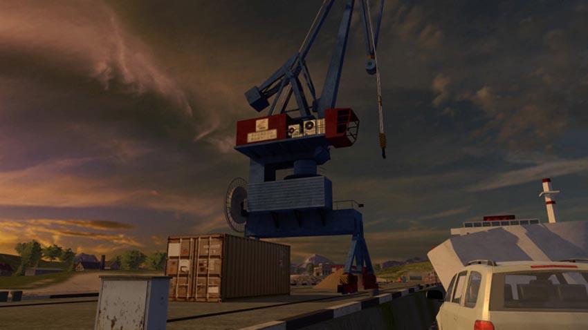 Harbor crane with spline V 1.0
