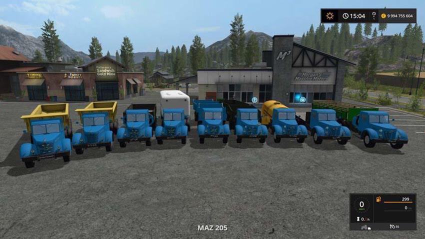 Trucks and trailers MAZ and YAZ 200 SERIES v 1.0