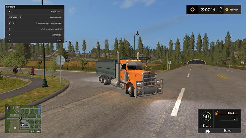 Peterbilt 389 grain truck v 1.0