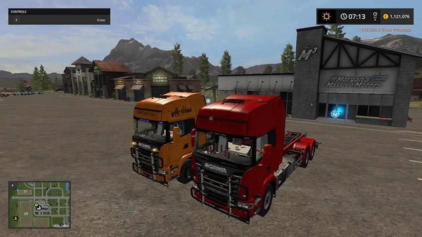Scania V8 hook lift with rail trailer V 1.0.3.0