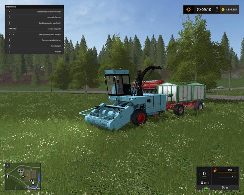 Fortschritt E-281 with 3 cutting units V 1.0
