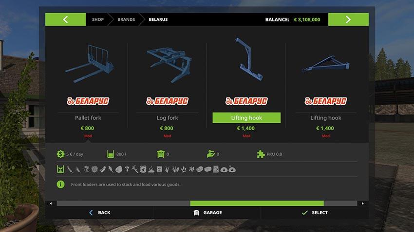 Frontlader gerate for MTZ Master Pack v 1.0