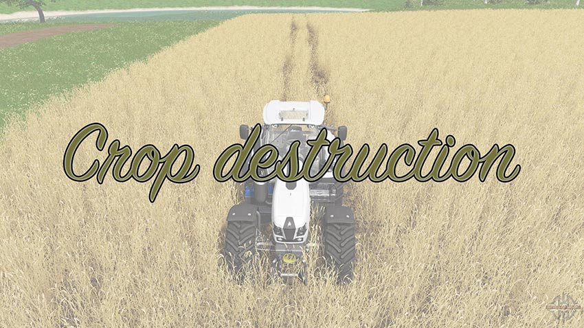 Crop destruction v 1.0