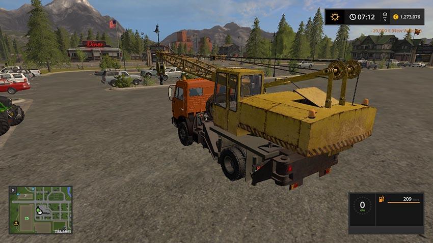 Kamaz 43225 Crane v 1.0