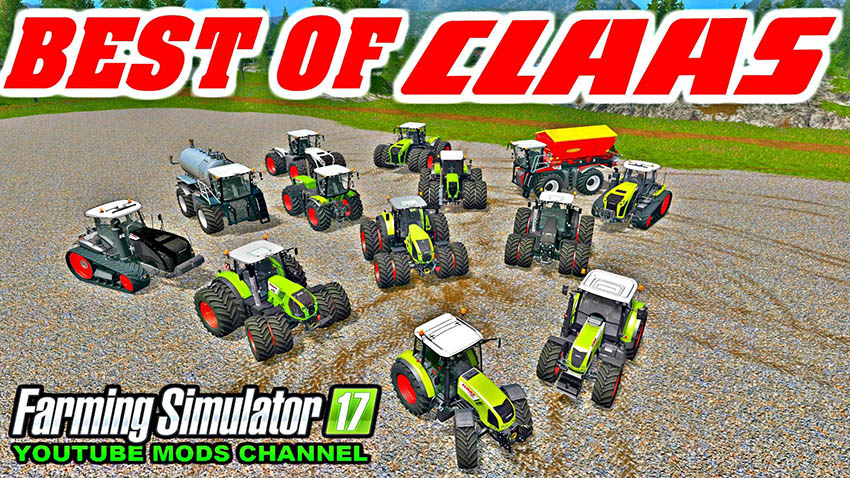 All Claas Tractor Pack v 1.0