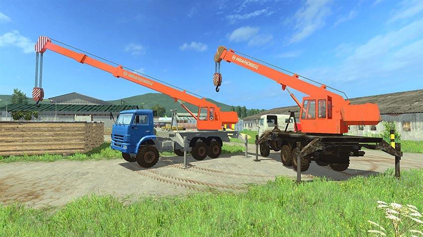 Kamaz 65222K Crane v 1.0