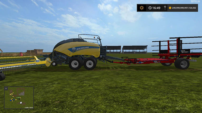 New Holland BB1290 + Nadal R90 + Trailer attacher v 1.0