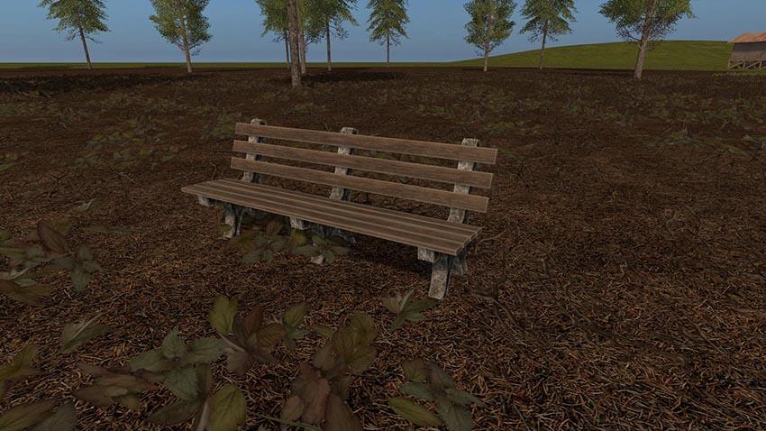 Placeable Park Bench v 1.0