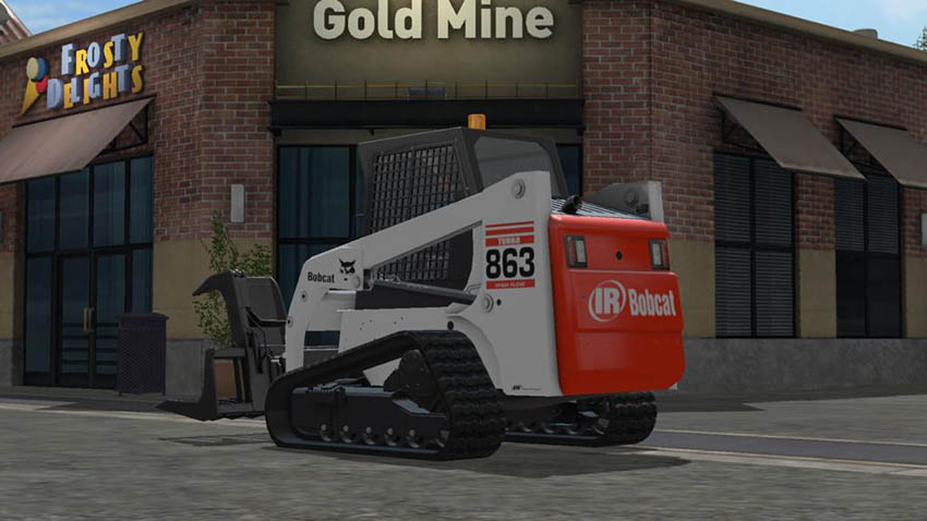 Bobcat 863 Turbo With Bobcat Shovel v 1.0