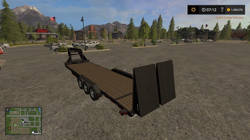 Gooseneck load trail trailer v 1.0