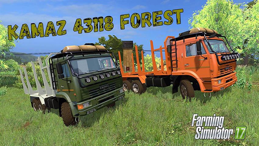 Kamaz 44118 Forest + Trailer v 1.0