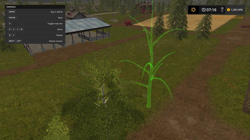 Placeable logging trees v 1.0