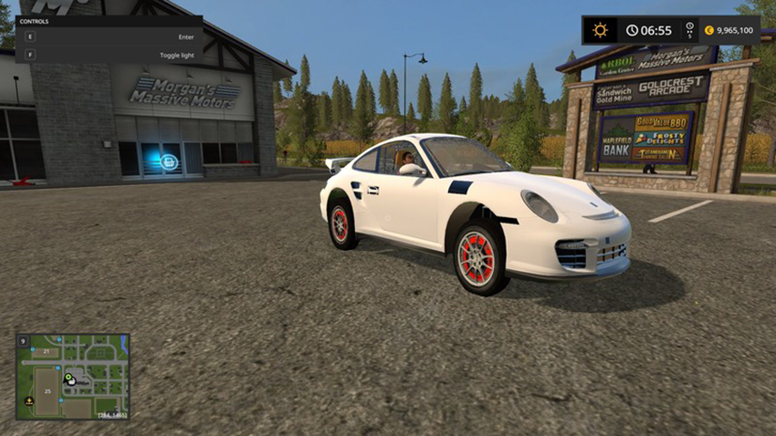Porshe 911 GT2 White V 1.0