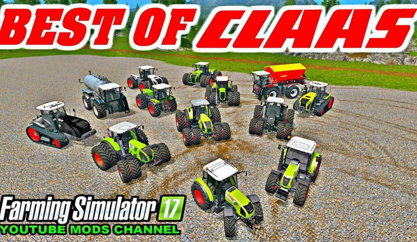 ALL CLAAS TOP TRACTOR PACK v 1.0