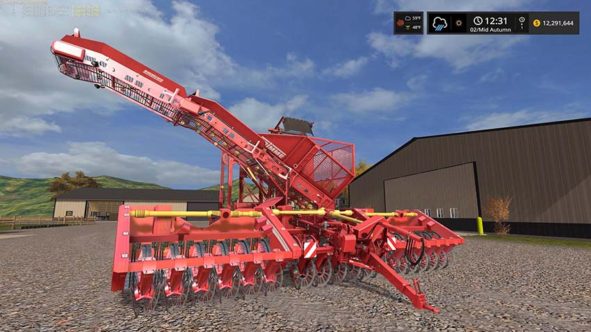 Grimme 18 row Sugar beet harvester v 1.0
