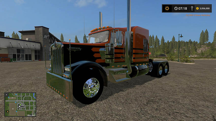 Kenworth W900 with Lift Axle v 1.0