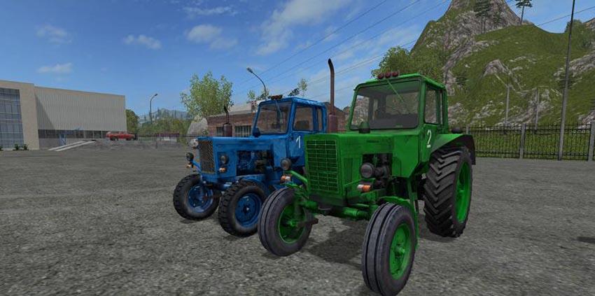 MTZ-80 green and blue v 1.0