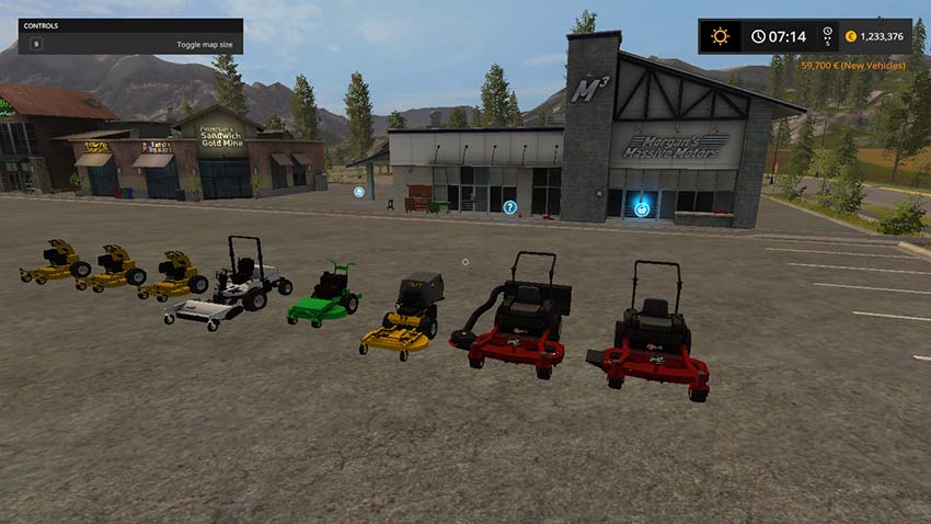 Mower Pack With Wright Staners v 1.0