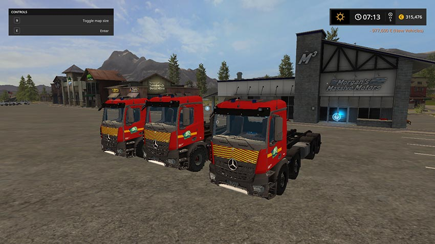Mercedes-Benz mods for farming simulator 2017 | LS2017 com