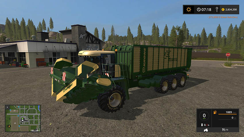 Krone Big ZX550GD mower v 1.0
