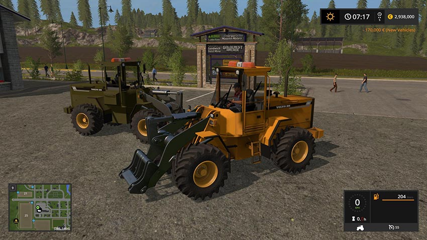 Volvo L90C Military Green and Yellow v 1.0