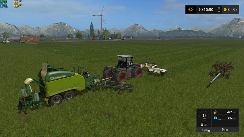 Class 3200 and Krone Ultima Balers with front Nadal v 1.0