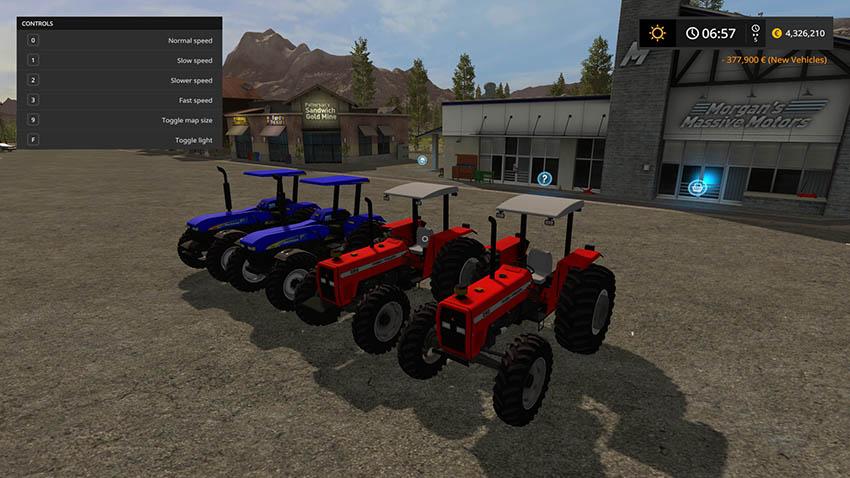 New Holland 7630 + MF 292 BR v 1.0