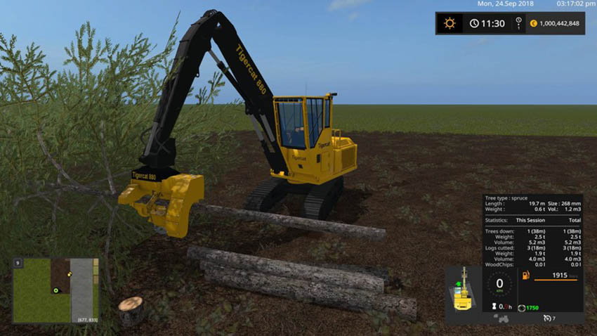 Tigercat 880 with tools V 1.0