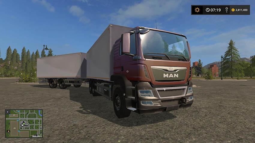 MAN Palletloader Truck + Trailer v 1.0