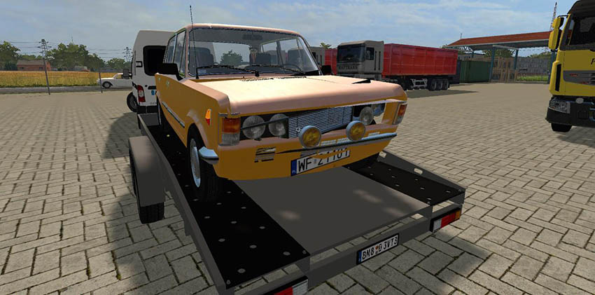 Crashed Fiat 125p v 1.0