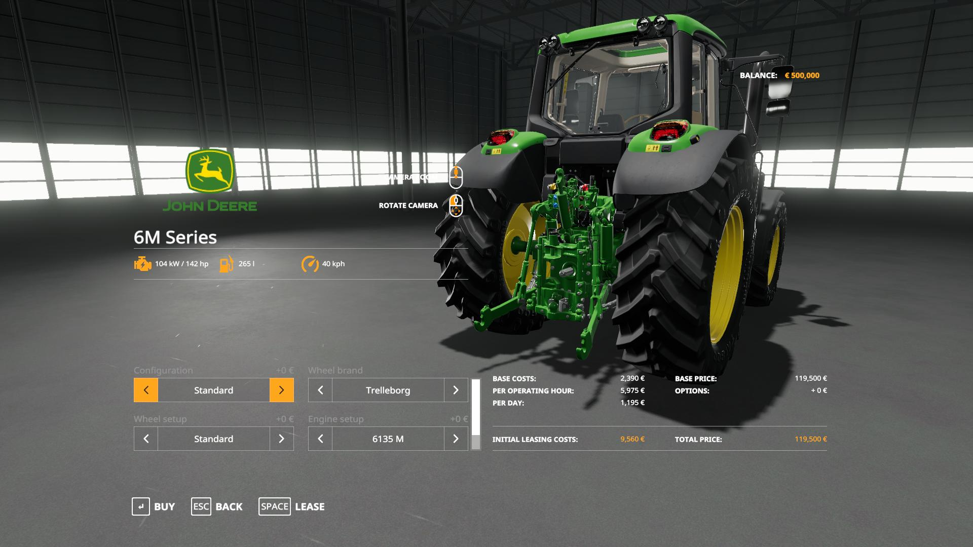 John Deere 6M Series with SeatCam v 1.0