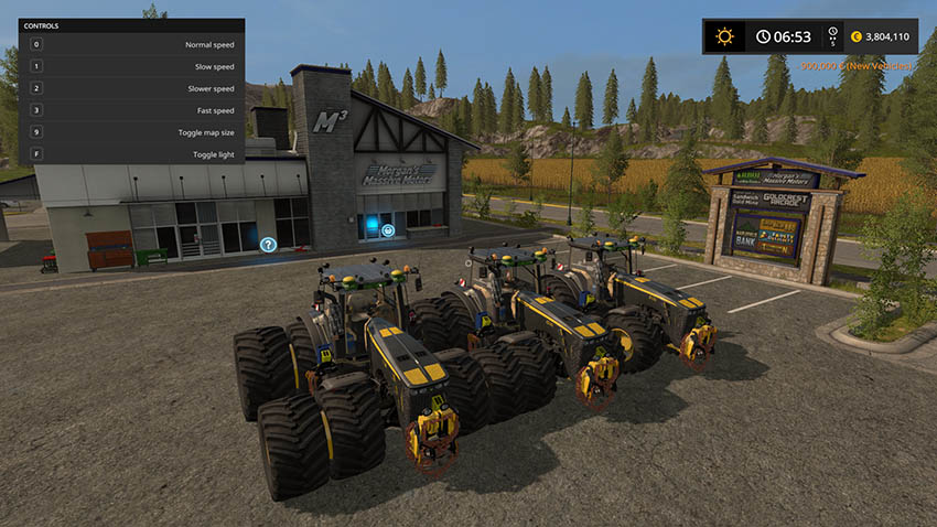 John Deere 8530 Black Shadow v 1.0