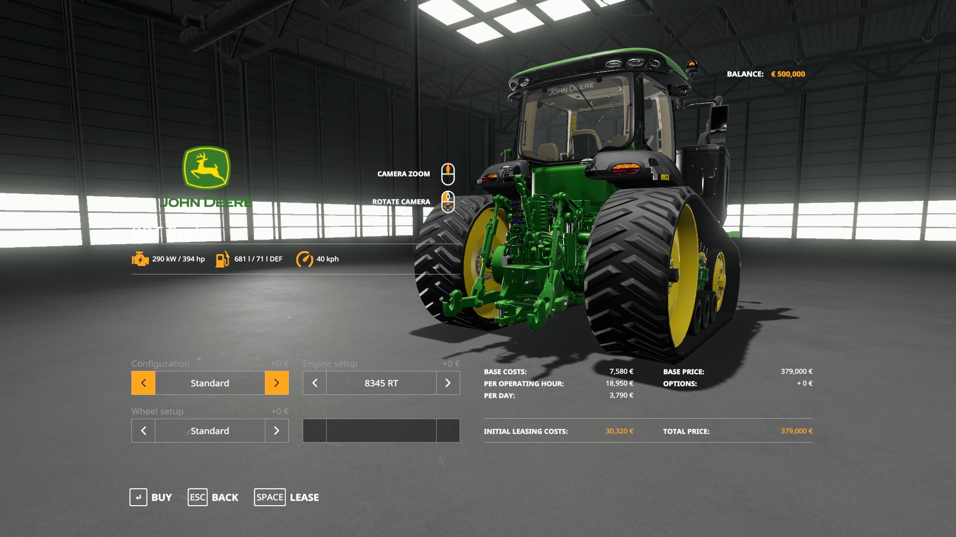 John Deere 8RT with SeatCam v 1.0