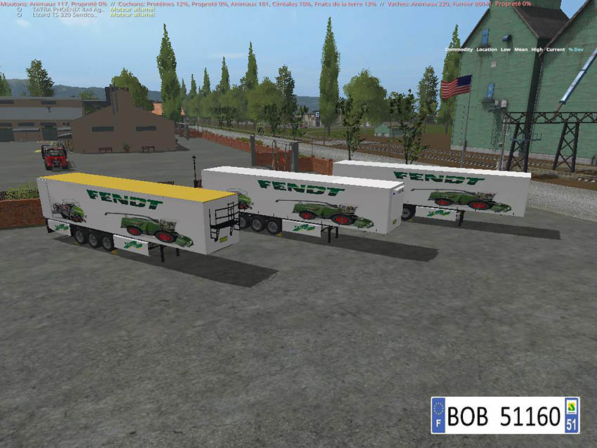 Pack 2 Trailers Fendt 4 in 2 v 1.1