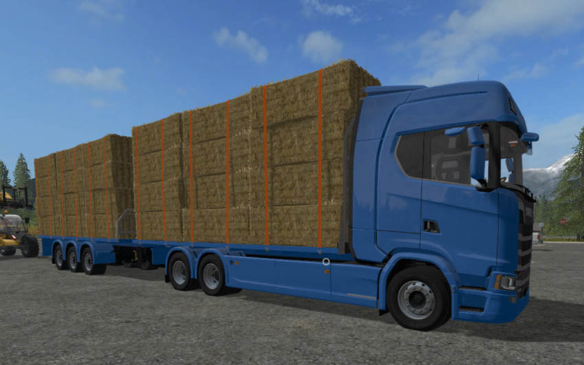 Scania S Flatbed and Matching Trailer V 1.0