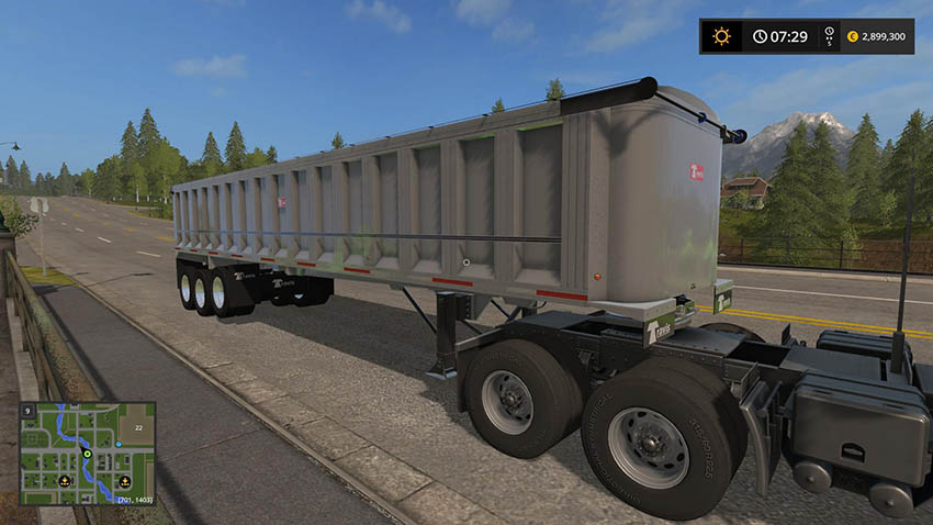TRAILER TRAVIS CLASSIC END-DUMP v 1.0