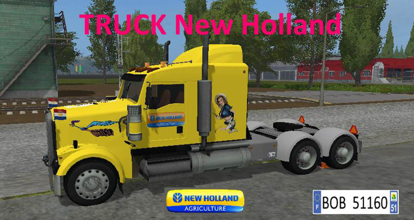 Truck + trailer Yellow New Holland v 1.1