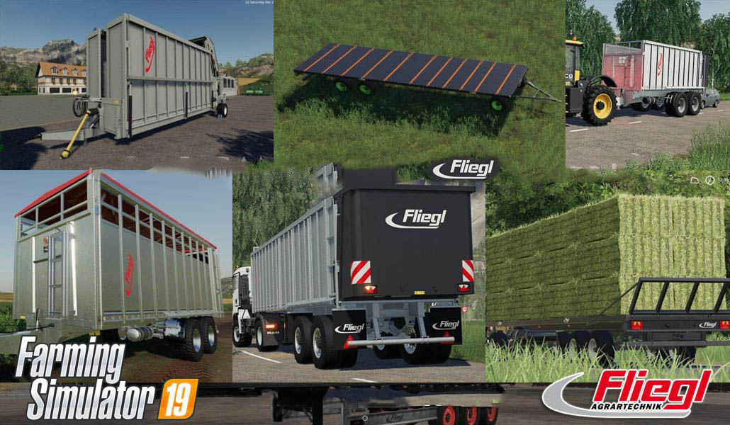 Fliegl Mega Trailers Pack v 1.0